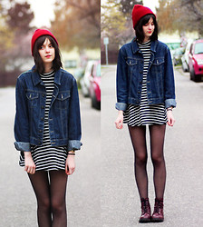 Nora Aradi - Dress, Asos Beanie, H&M Boots - Abadday