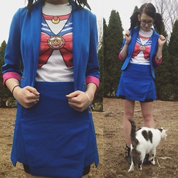Samantha Keefe - Hot Topic Sailor Moon Tee, Candies Blazer, Forever 21 Skirt - Sailor Moon