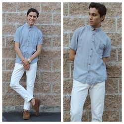 Brandon Beltran - Cotton On Button Down, Michael Kors Watch, Levi's® Jeans, Sperry Shoes - Today.