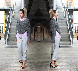 Shel Duffy - H&M Sweater, Topshop Top, Zara Pants, Mango Heels - Spring Sweats