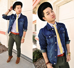 Shawn C. - Forever 21 21men Denim Jacket - All tied up (Visit my blog)