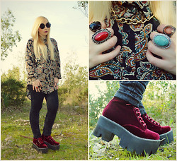 Valeria S. - Jeffrey Campbell Siglin, Urban Outfitters, Urban Outfitters - Velvet Boots