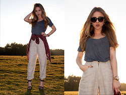 Alexandra F - Céline Glasses, Michael Kors Watch, Zara Pants, Zara Shirt - Chasing the sun