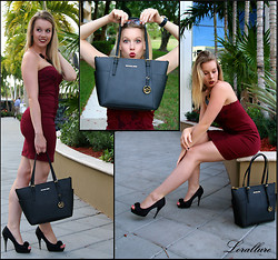 Laurie Lorallure - Michael Kors Bag, Dosenbach Heels, Vogue Sunglasses, Mac Lipstick, Aldo Necklace - VAMP LOOK WITH MICHAEL KORS