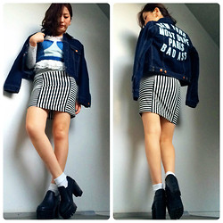 Chiro ♡ -  - Embroidery denim jacket