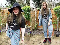 Abby Robson - Killstar Clothing Top, Charity Shop Jeans, Doc Marten X Agyness Deyn Shoes, Oasis Market Shirt, H&M Hat - We are the weirdos, mister