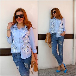 Melislicious Blog - Persun Shirt, H&M Jeans, H&M Shoes - Baby Blue