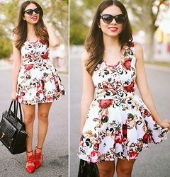 Daniela Ramirez - Style Mafia Dress, Gx For Sheodazzle Shoes, Ted Baker Bag - Digital floral...