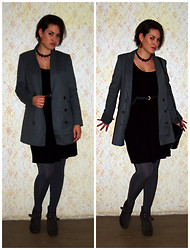 "Kristyna XXX - Mango ""Boyfriend's"" Blazer - Black and grey"