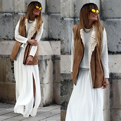 Rebel Attitude - Mango Skirt, Choies Vest - Long