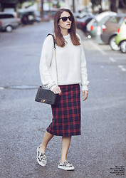 Raquel Falomir -  - PLAID PENCIL SKIRT