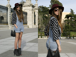 Talía Cardeña - Choies Top, Romwe Jumpsuit - MADRID IN DOTS