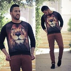 Nabil Asserghine - Choies Sweatshirt, More Detail Outfit On - King Of The Beasts