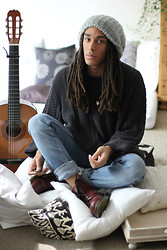 Philip Antony - Levi's® Sweater, Dr. Martens Shoes - It is easy to be sad