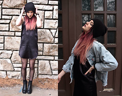 Wawa Baby - Jeffrey Campbell Boots, Levi's® Denim Jacket - Lingerie Dress & Levi's Vintage Denim Jacket