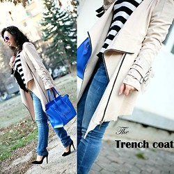 Teodora J. - Oasap Trench, Céline Bag, Manolo Blahnik Shoes, Zerouv Sunglasses - Welcome to: The Trench season