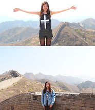 Chloé T. - Forever 21 Believe, H&M High Waist Leather, Lee Cooper Jeans Vest - GREAT WALL - JINSHANLING