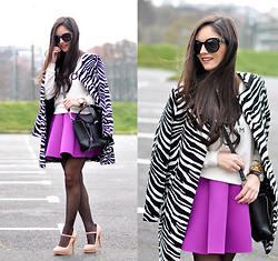Alba . - Choies Skirt, Choies Coat, Persun Bag, Daniel Wellington Watch - ...New York...
