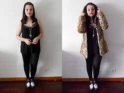 Black Rose - Romwe Leopard Coat, La Cerise Shop Necklaces - Moon of my life
