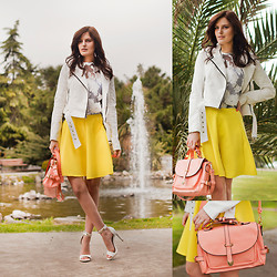 Viktoriya Sener - Wholesale7 Flower Twinset, Bb Dakota Jacket, Wholesale7 Shoulder Bag, Mango Sandals - IN YOUR EYES