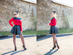 Cazacu Diana - Skirt , Clockhouse, Socks , Gatta, Heels , Benvenuti - Attractive girl
