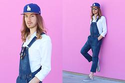 Tony to Wear - New Era Cap, Zara White Shirt, Topman Jeans Dungarees, Vans Slip On Sneakers - Over it all