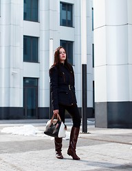 Christine - - Zara Jacket, Zara Pants, Topshop Bag, No Name Boots - Make your choice