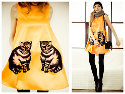 Tini Tani - Zealotries Dress, Oasap Boots, Chanel Bag - 2 Cats