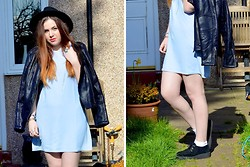 Ashleigh Dougherty - H&M Black Fedora, In Love With Fashion Dress, Primark Jacket, Ebay Creepers - WILD HEART