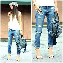 Macarena Ferreira - Steve Madden Shoes, Tank, Adriano Goldschmied Boyfriend Jeans, Balenciaga Purse, Studio Lx Cap - If I Were a Boy.