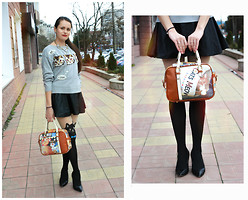Anna Eprintseva - Rosegal Bag - Cat's outfit