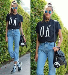Gizele Oliveira - Brashy Couture T Shirt, Urban Outfitters Bag, Primark Socks, Asos Shoes, Asos Choker - Ok