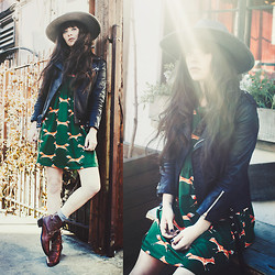 Rachel-Marie Iwanyszyn - Dress, Vintage Boots, Free People Hat - I'LL BE SEEING YOU.