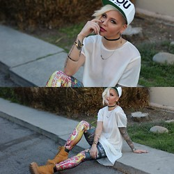 Samii Ryan - Civil Clothing Hat, Kahlo Shirt, Poprageous Leggings, Jeffrey Campbell Boots - YOU Suck