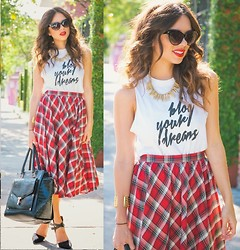 Daniela Ramirez - Furor Moda X Nany's Klozet Blog Your Dreams, Shoppiin Plaid Skirt, Ted Baker Bag - Tartan