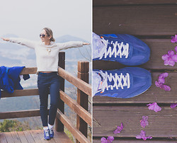 Olga Choi - New Balance Sneakers, Sheinside Sweatshirt, Céline Sunglasses, Martofchina Necklace - Birds flying high