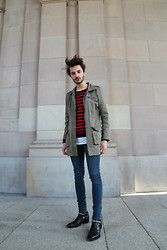 Dustin H. - Vintage Parka, H&M Sweater, Topman Jeans, Saint Laurent Shoes - BSC BTCH