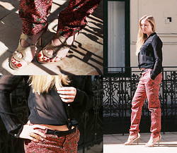 Ines - Calvin Klein Sandals, Kenzo Pants, Pimkie Shirt - Spring in Budapest