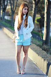 María Antonella Vivas - H&M Shirt, Guess? Leather Jacket, Topshop Bag - Spring has sprung