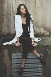 Cindy Le - Bik Bok Blazer, Vagabond Shoes, Bik Bok Lace Top - When a fire starts to burn