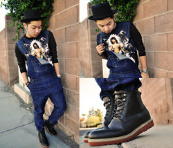Shawn C. - Choies Printed Sweater, Forever 21 21men Boots - Poetic Justice (Visit my blog)