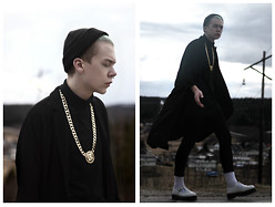 Johannes Karlsson - Ebay Necklace, Monki Lana Blazer, American Apparel Socks, Dr. Martens Shoes - Once Upon a Dream