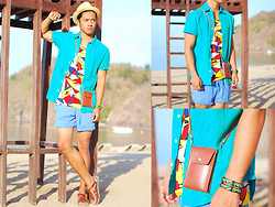 David Guison - Perry Ellis Button Down - Colors of Summer