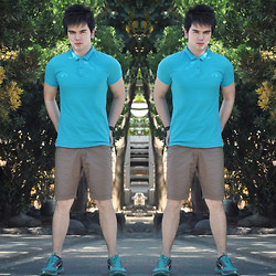 Lord Michael Angeles - F&H Polo Shirt, F&H Khaki Short, Nike Running Shoes - Sun Bright Like A Diamond