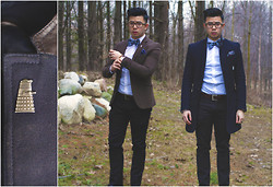 Jean-Pierre Saint-Tran - Ted Baker Bowtie, Vintage Dalek Pin, Zara Coat, H&M Blazer - Looking for the Tardis