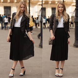 Kristiana V - H&M Pleated Skirt, Zara Necklace - LUXEMBOURG ON A SUNNY DAY