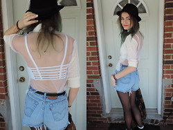 Stefanie A - Diy Mesh Top - DIY Backless Mesh Top