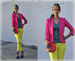 Amina Allam - Mim Total Look - Spring color block