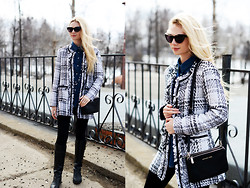 Valeriia Volkova - Kate Katy.Com Jacket - TWEED JACKET