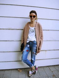 Gapsi Pizzoleo - Misslittletouch Ar Tee, Persun Patched Denim, Sammydress Pink Coat, Nike Airmax - PATCH IT UP